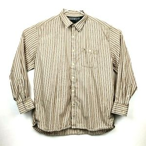 Timberland Mens Striped Button Up Shirt XL